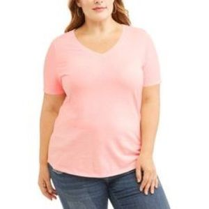Plus Size St. John's Bay Pink V-Neck Tee